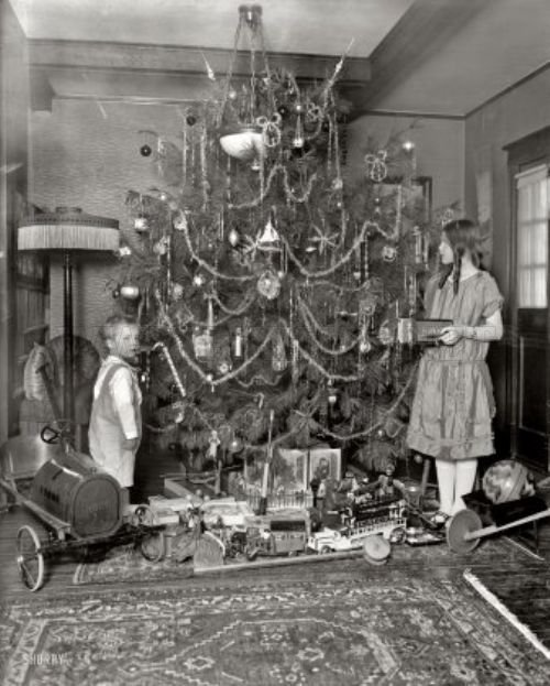 Christmas about 100 years ago