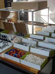 Lego Model of The Large Hadron Collider
