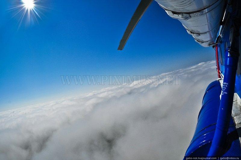 High Above The Novosibirsk Region