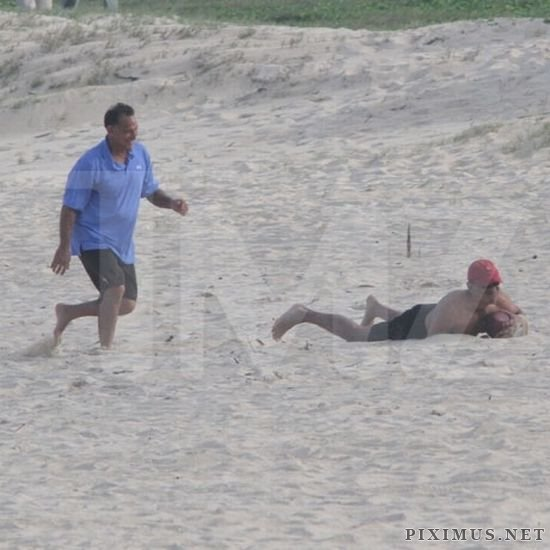 President Obama Plays Football in Hawaii