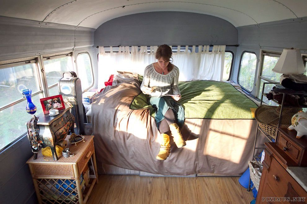 Living in a 300-square-foot Bus