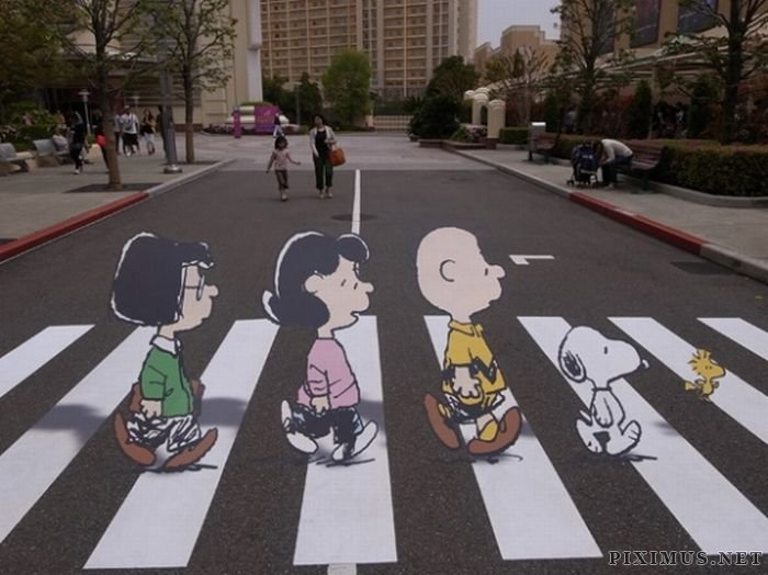 Peanuts do Abbey Road