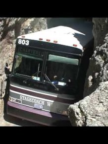 Bus in Rock Tunnel