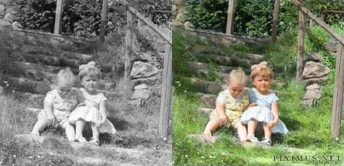 Classic Black and White Photos in Color