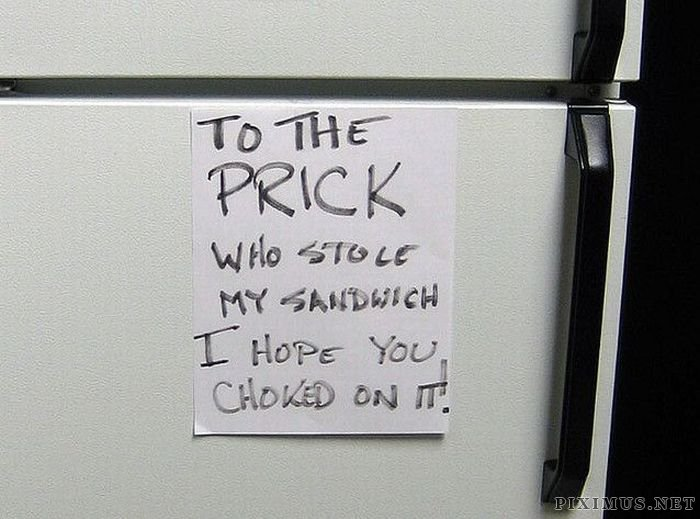 Hysterical Fridge Notes