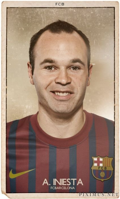 FC Barcelona Vintage Football Cards