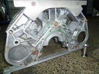 Custom V-Engine Glass Table
