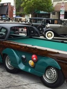 Amazing Pool Table Car