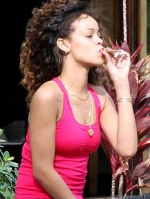 What's Rihanna Smoking?