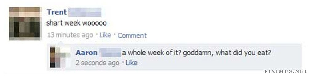 Facebook Statuses Hard to Forget