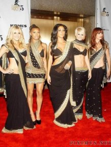 Celebrities in the Indian sari