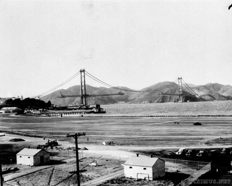 Construction of the Golden Gate Bridge, 1933-1937, part 19331937