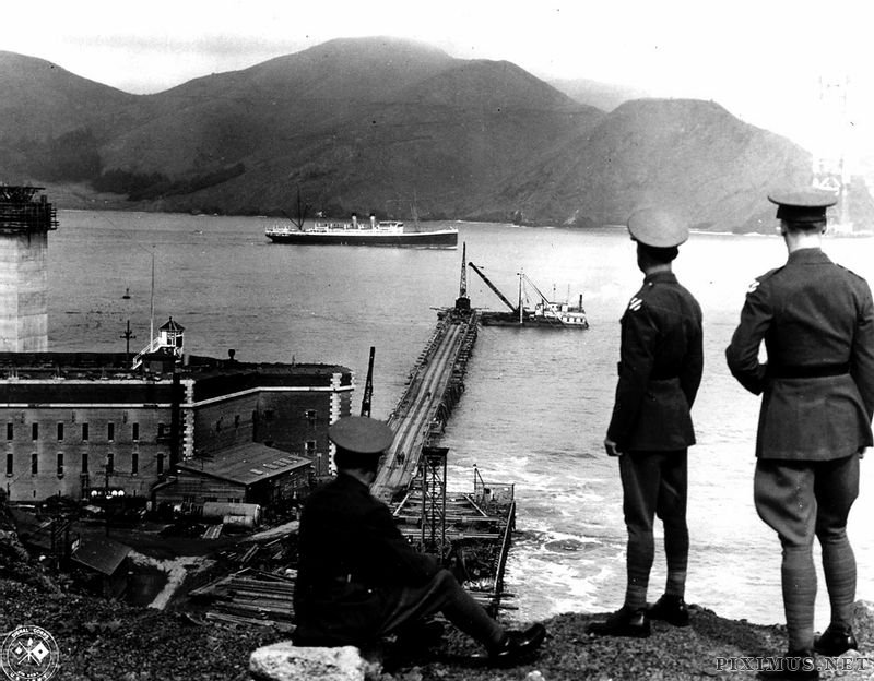 Construction of the Golden Gate Bridge, 1933-1937, part 19331937