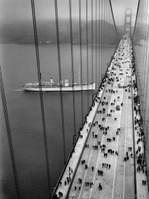 Construction of the Golden Gate Bridge, 1933-1937