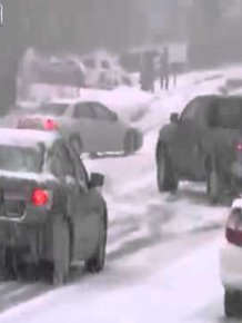 Multiple crashes on snowy road in Utah 01.21.2012