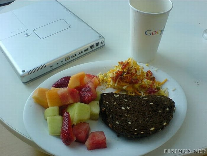 Food at the Google Cafeteria