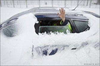 Snow Storm in Romania