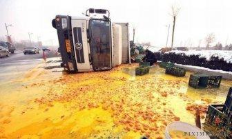 Egg Truck Crash in China