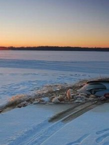 Frozen Lake Driving Gone Bad