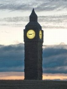 Big Ben Made of Straw