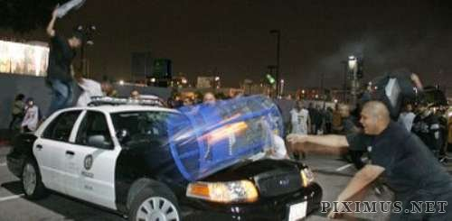 Police wrecked vandalism accidents