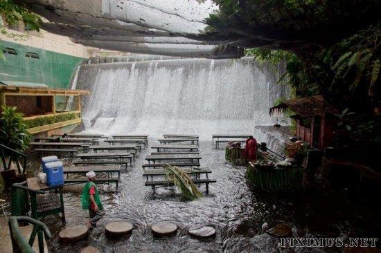 A Literal Waterfall Restaurant