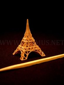 Tiny Sculptures Made From A Single Toothpick