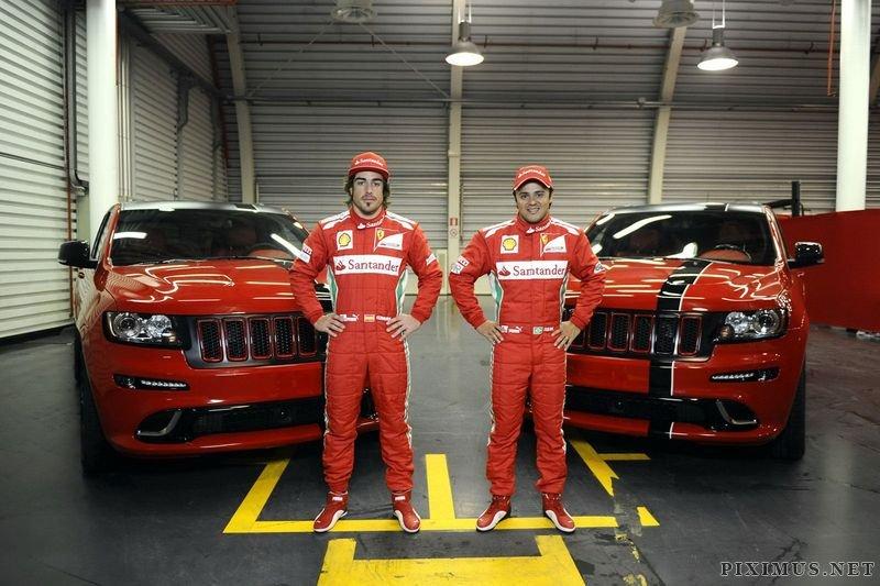Jeep Grand Cherokee SRT8 for Fernando Alonso and Felipe Massa