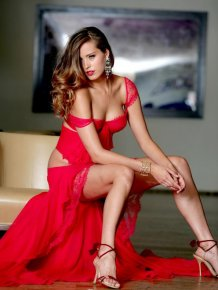 Petra Nemcova in a red hot