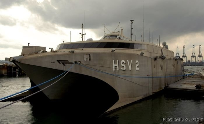 Ultra-modern High-Speed Catamaran HSV-2 Swift