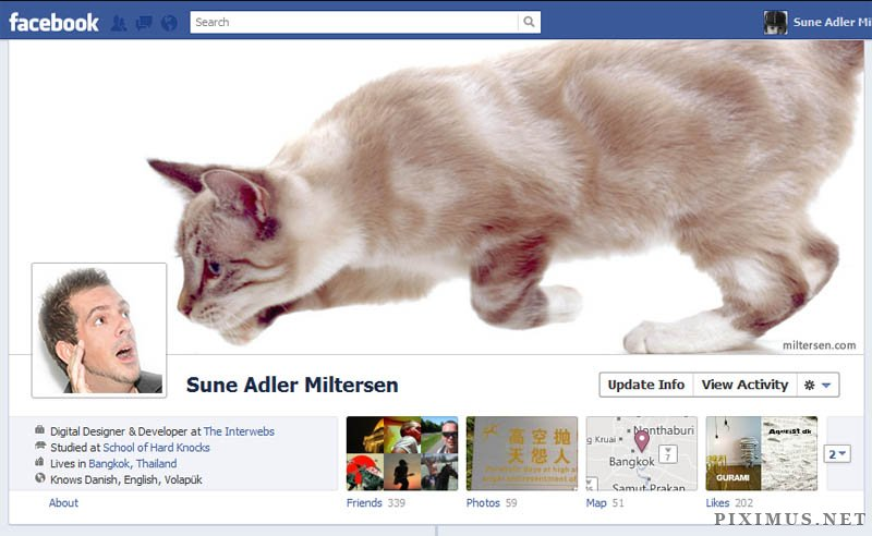 Fun and creative designs for Facebook Timeline