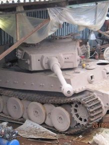 Handcrafted Tiger VI Tank Replica