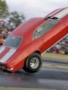 Drag racing wheelie