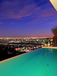 A modern architectural masterpiece in the Hollywood Hills