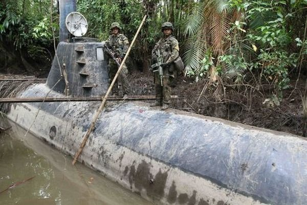 Drug Submarine Seized by Colombian Navy