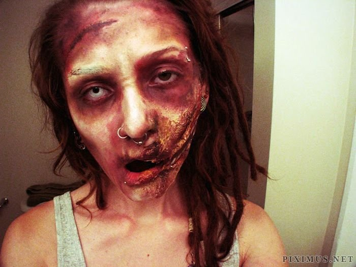 Creating Zombies with Makeup