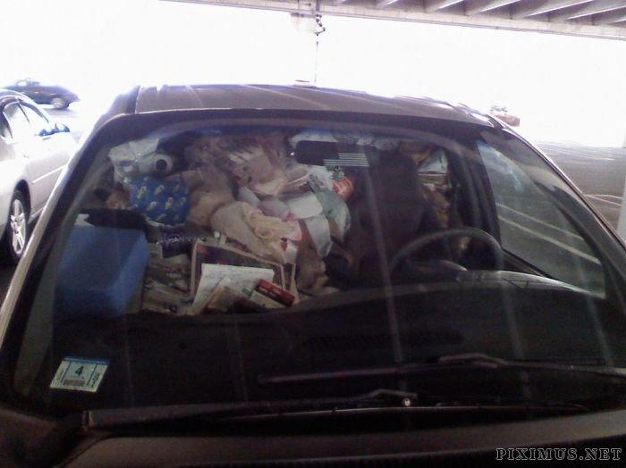 Car Full of Garbage