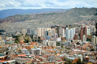 La Paz - the capital of the world's most mountainous with altitude