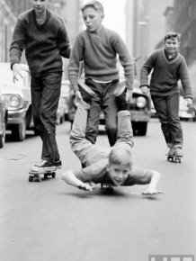 Skateboarding in New York in 1960
