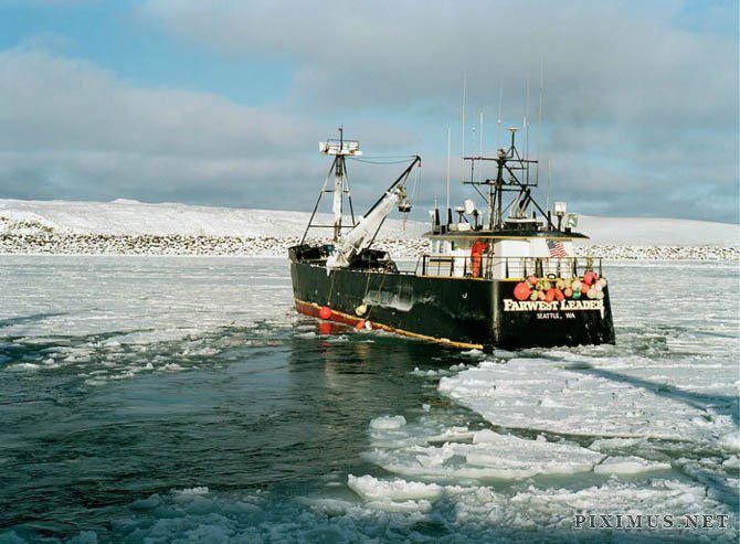 Fish work in bering sea by corey arnold others for Bering sea fishing