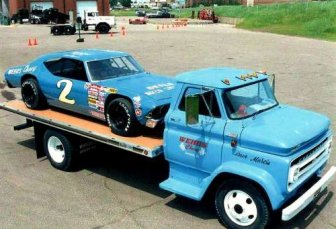 NASCAR hauler from the past