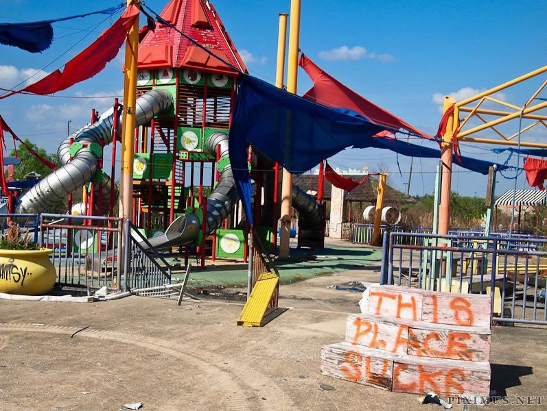 Abandoned New Orleans Six Flags
