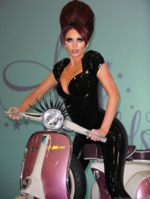 Amy Childs In black latex bodysuit