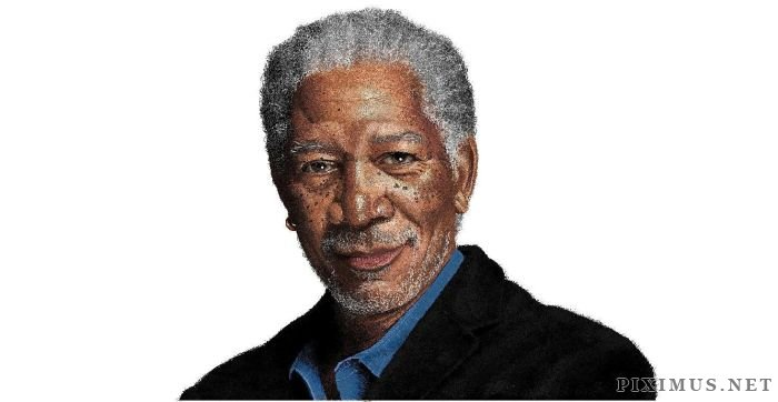 Morgan Freeman in MS Paint