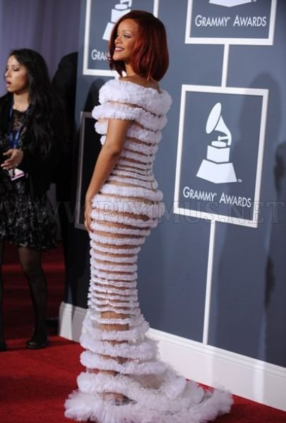 Rihanna's See-Through Dress