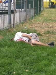 Drunk People Sleeping In Public