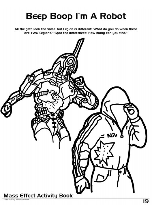 mass effect 3 coloring pages - photo#36