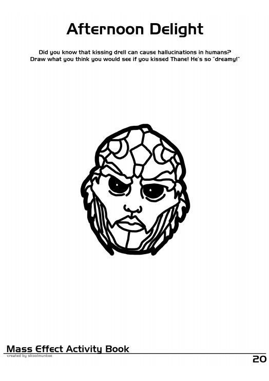 Mass Effect Coloring and Activity Book