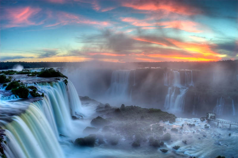 Iguazu Falls - water on the border between the two countries