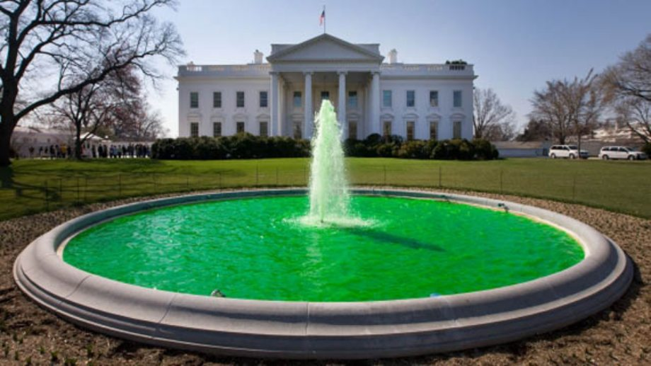 Locations around the World that go green for St. Paddy's Day